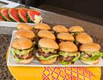 Bacon and Guacamole Sliders with Grilled Watermelon